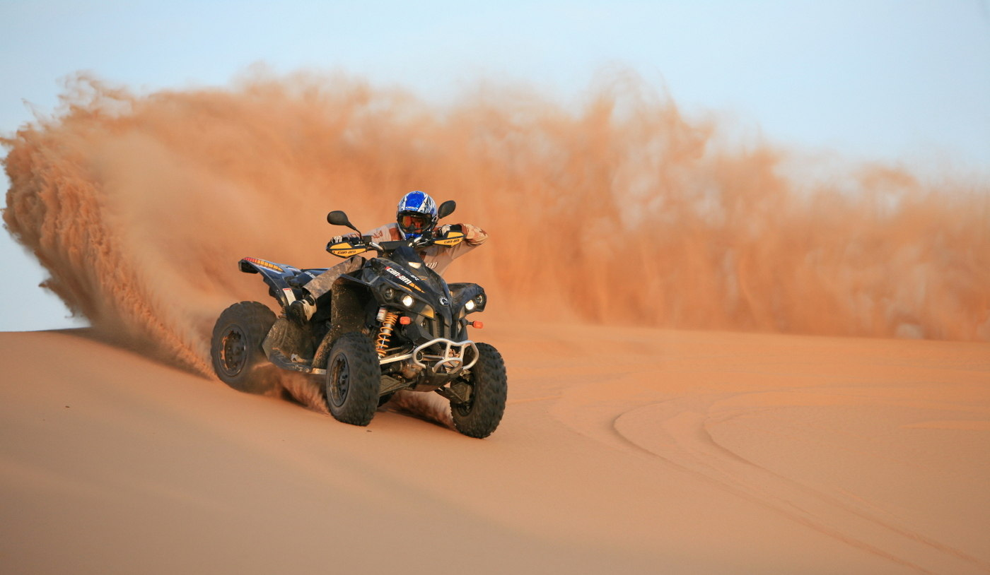 Quad Biking And ATV In The Desert Of Morocco