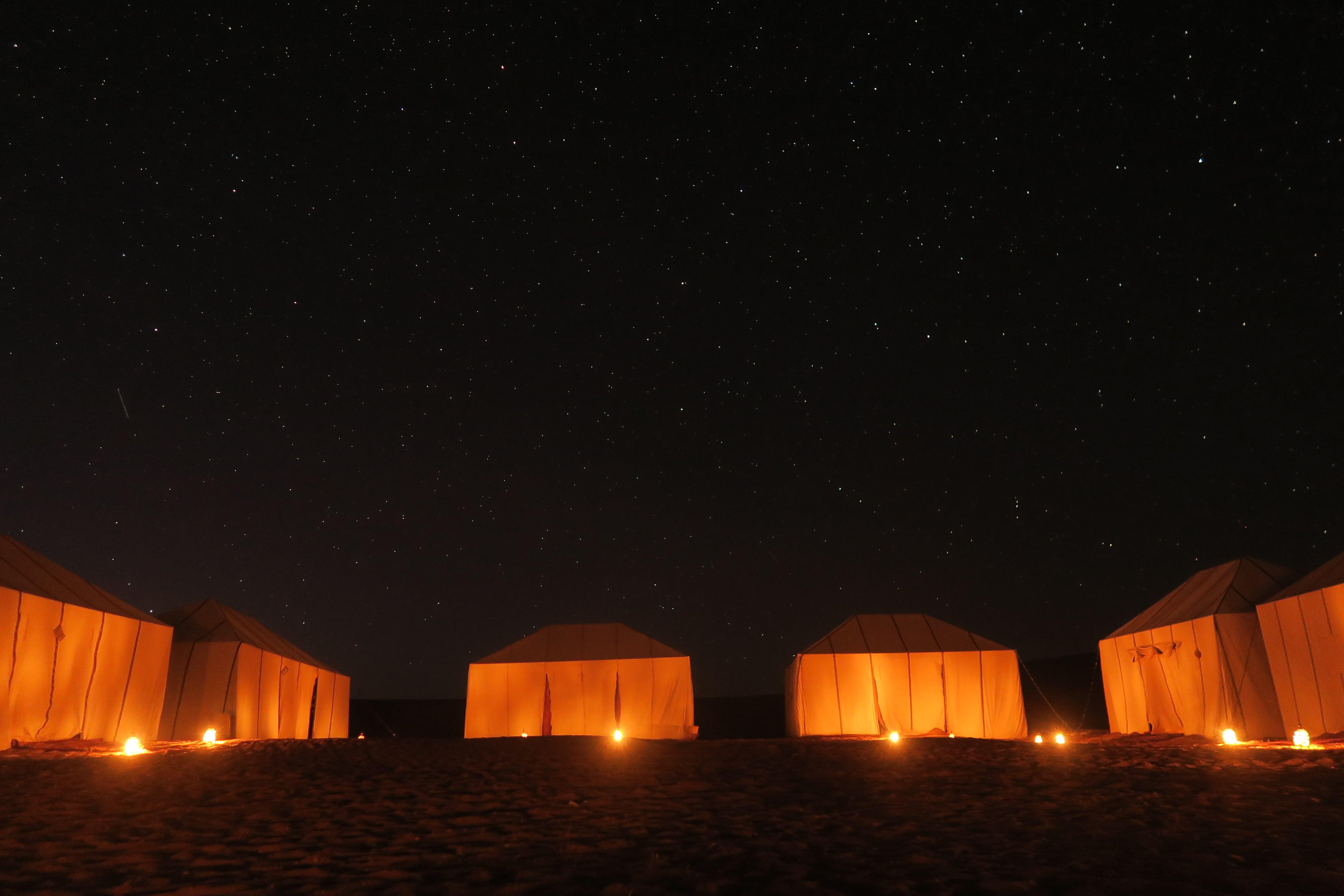 The best desert camp in erg chigaga dunes in the sahara desert of